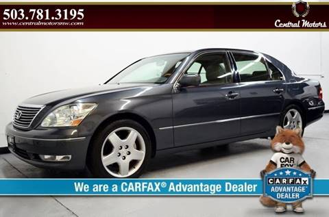 2005 Lexus LS 430 for sale at Central Motors LLC in Portland OR
