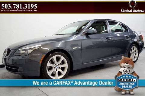 2009 BMW 5 Series for sale at Central Motors LLC in Portland OR