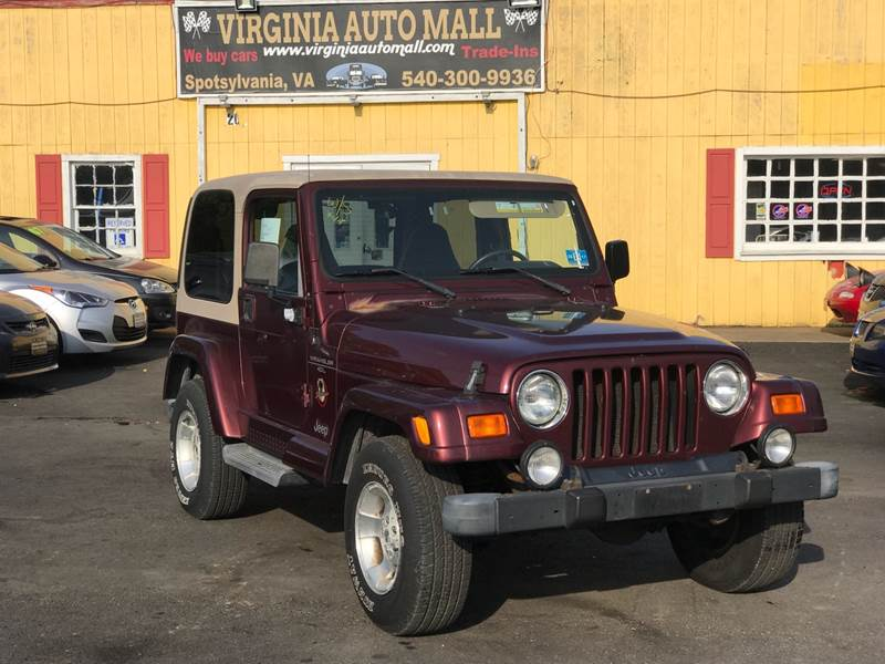 2001 Jeep Wrangler For Sale At Virginia Auto Mall In Woodford VA