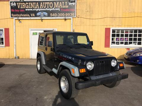 1999 Jeep Wrangler for sale in Woodford, VA