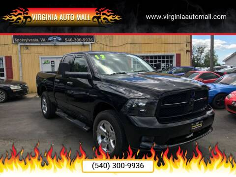 2012 RAM Ram Pickup 1500 for sale at Virginia Auto Mall in Woodford VA