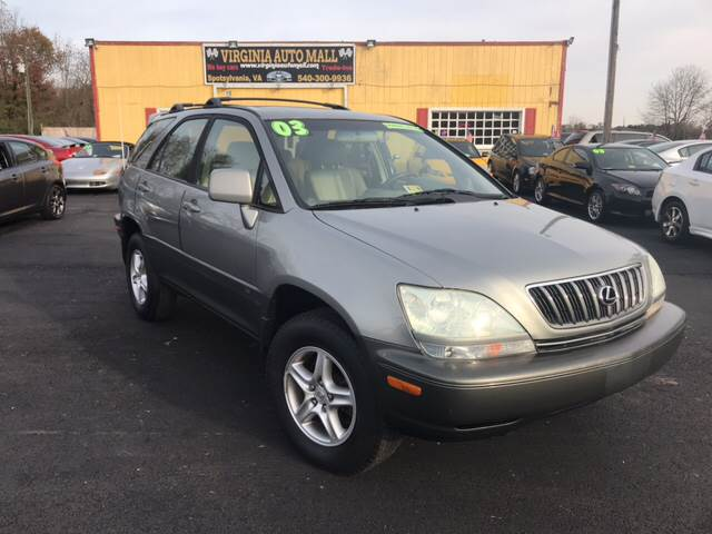 2003 Lexus RX 300 For Sale At Virginia Auto Mall In Woodford VA