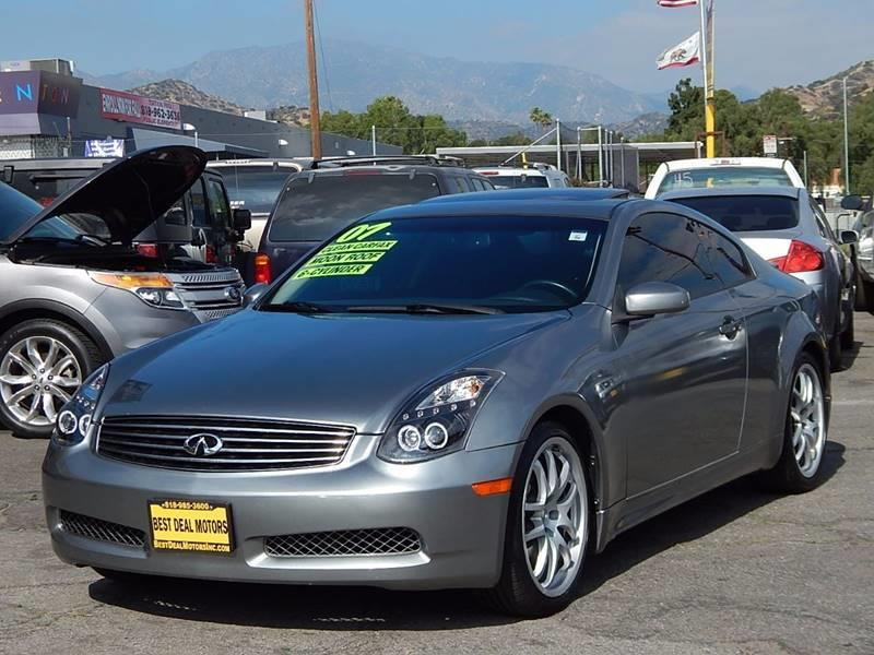 2007 Infiniti G35 for sale at Best Deal Motors - Used Cars ,and Trucks for sale in Sun Valley,  Los Angeles CA