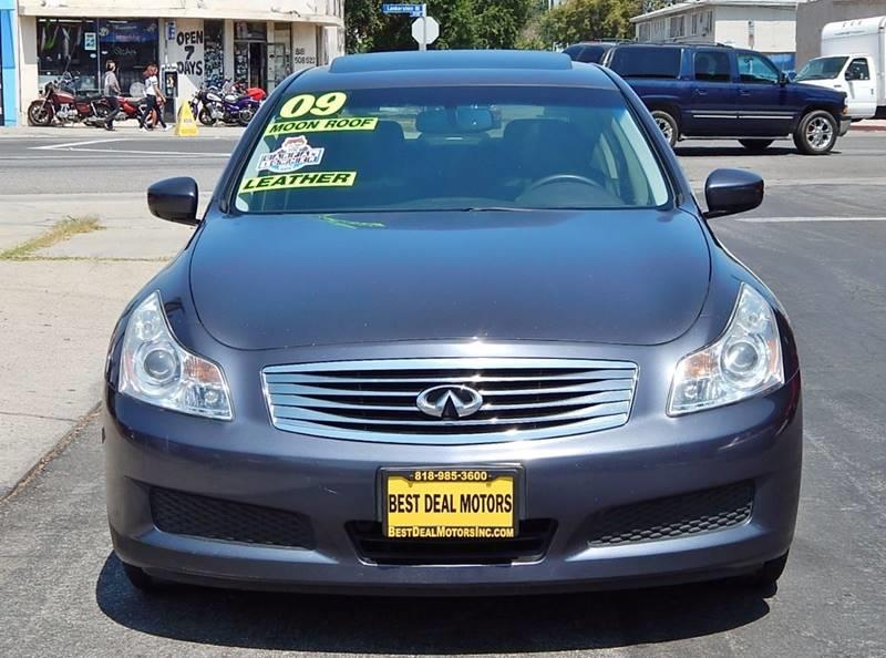 2009 Infiniti G37 Sedan for sale at Best Deal Motors - Used Cars ,and Trucks for sale in Sun Valley,  Los Angeles CA