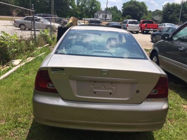 2002 Honda Civic for sale at Atlanta South Auto Brokers in Union City GA