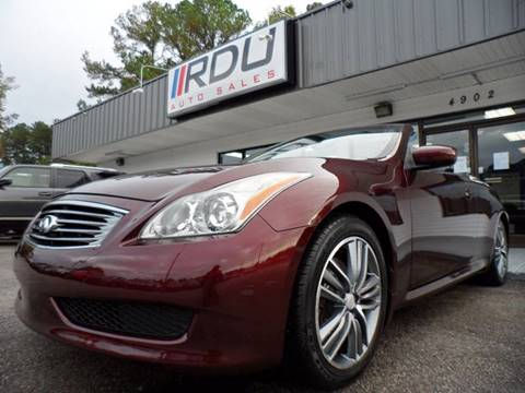 2010 Infiniti G37 Convertible for sale in Raleigh, NC