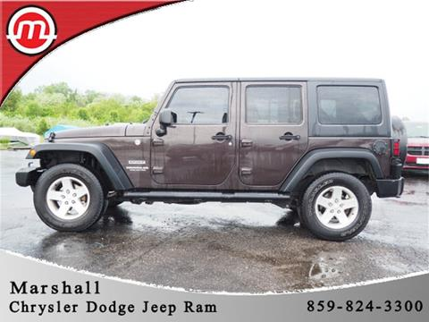 2013 Jeep Wrangler Unlimited for sale in Crittenden, KY