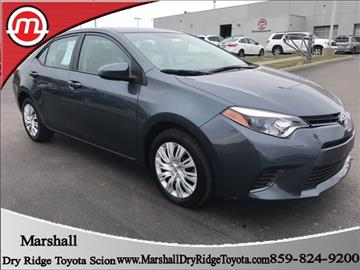 2016 Toyota Corolla for sale in Dry Ridge, KY