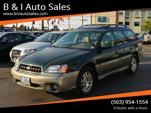 2003 Subaru Outback For Sale In Oregon Carsforsale