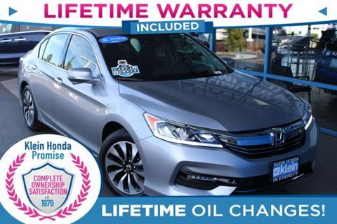2017 Honda Accord Hybrid for sale in Everett, WA