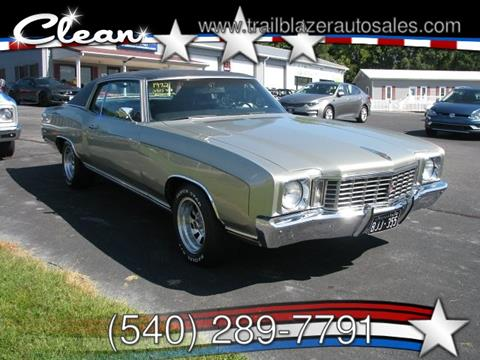 1972 Chevrolet Monte Carlo for sale in Mc Gaheysville, VA