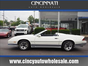 1984 Chevrolet Camaro for sale at Cincinnati Auto Wholesale in Loveland OH