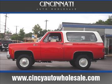 1979 Chevrolet Blazer for sale at Cincinnati Auto Wholesale in Loveland OH