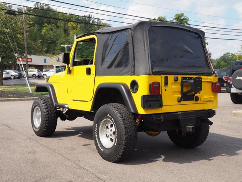 2000 Jeep Wrangler for sale at Cincinnati Auto Wholesale in Loveland OH