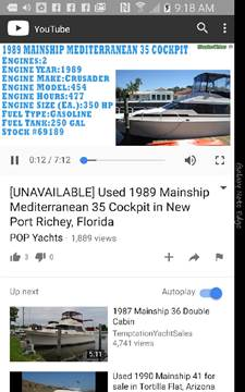 1989 Mainship  Mediterranean