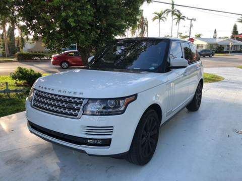2014 Land Rover Range Rover for sale at South Beach Classics Inc. in Miami FL