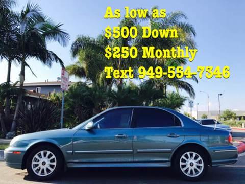 2005 Hyundai Sonata for sale at SUMMER AUTO FINANCE in Costa Mesa CA