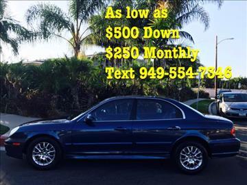 2004 Hyundai Sonata for sale at SUMMER AUTO FINANCE in Costa Mesa CA