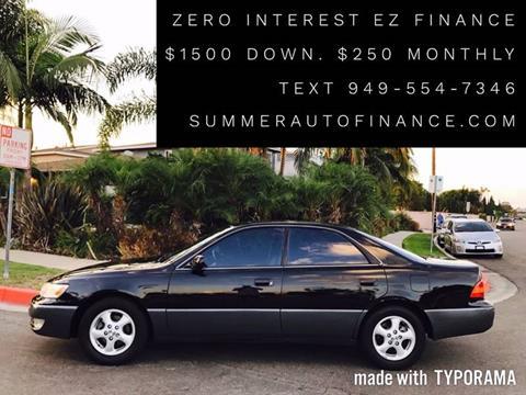 1998 Lexus ES 300 for sale at SUMMER AUTO FINANCE in Costa Mesa CA
