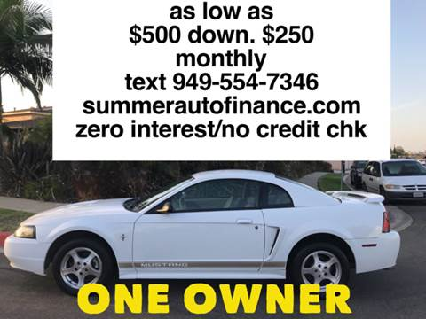 2002 Ford Mustang for sale at SUMMER AUTO FINANCE in Costa Mesa CA