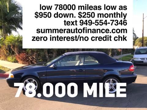2001 Volvo C70 for sale at SUMMER AUTO FINANCE in Costa Mesa CA