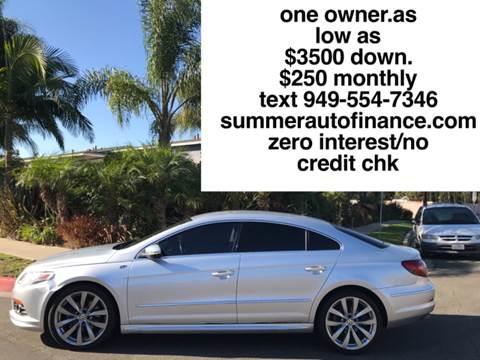 2012 Volkswagen CC for sale at SUMMER AUTO FINANCE in Costa Mesa CA