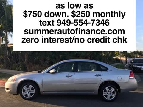 2006 Chevrolet Impala for sale at SUMMER AUTO FINANCE in Costa Mesa CA