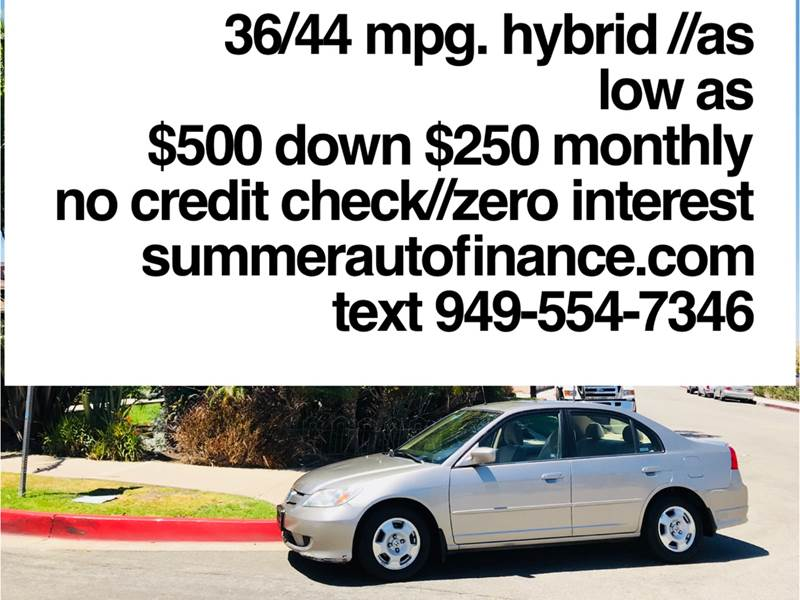 2005 Honda Civic For Sale At SUMMER AUTO FINANCE In Costa Mesa CA