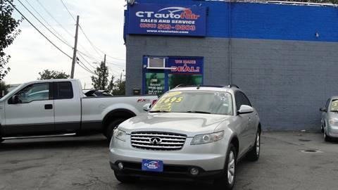 2005 Infiniti FX35 for sale at CT AutoFair in West Hartford CT