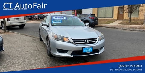 2013 Honda Accord for sale at CT AutoFair in West Hartford CT