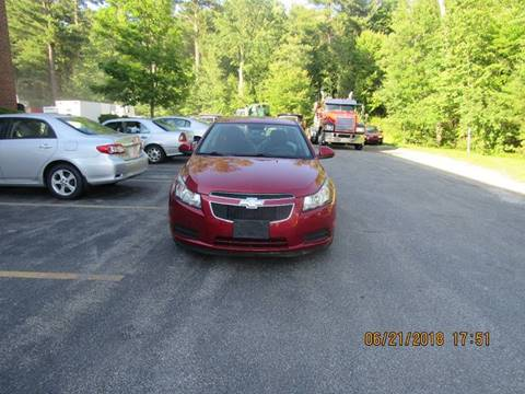 2013 Chevrolet Cruze for sale at Heritage Truck and Auto Inc. in Londonderry NH