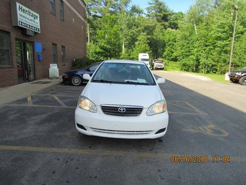 2007 Toyota Corolla for sale at Heritage Truck and Auto Inc. in Londonderry NH