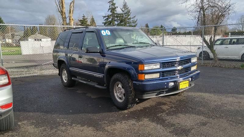 2000 Chevrolet Tahoe Limitedz71 Z71 In Salem Or Gravitas Motors