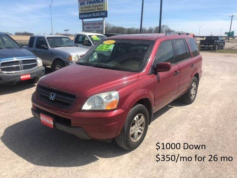 2005 Honda Pilot For Sale At Hunkle Auto In Van Alstyne TX