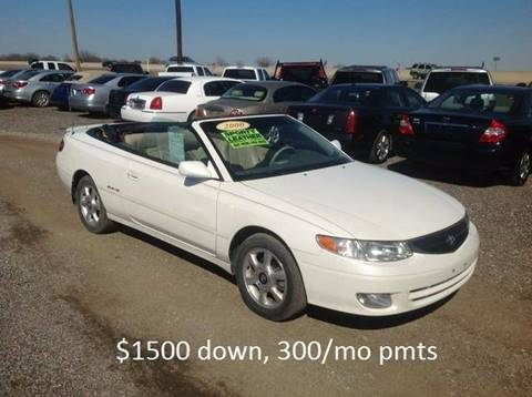 2000 Toyota Camry Solara for sale at Hunkle Auto in Van Alstyne TX