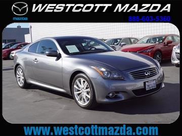2012 Infiniti G37 Coupe for sale in National City, CA