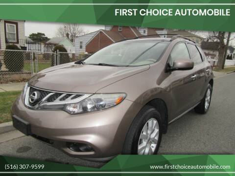2012 Nissan Murano for sale at First Choice Automobile in Uniondale NY