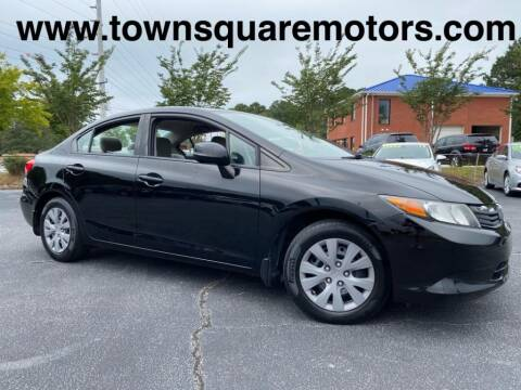 2012 Honda Civic for sale at Town Square Motors in Lawrenceville GA