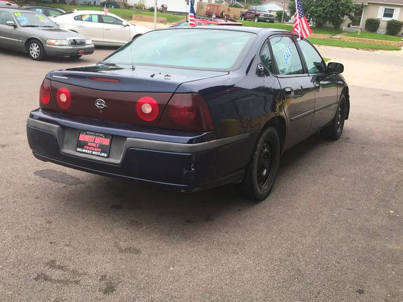 2002 Chevrolet Impala for sale at Midwest Motors of Savanna in Savanna IL
