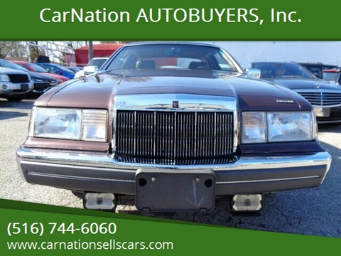 1988 Lincoln Mark VII for sale at CarNation AUTOBUYERS, Inc. in Rockville Centre NY
