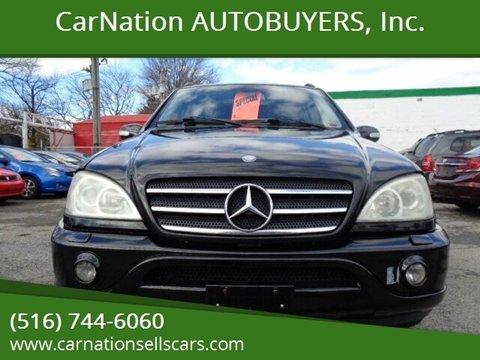 2003 Mercedes-Benz M-Class for sale at CarNation AUTOBUYERS, Inc. in Rockville Centre NY