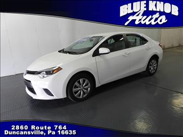 2016 Toyota Corolla for sale in Duncansville, PA