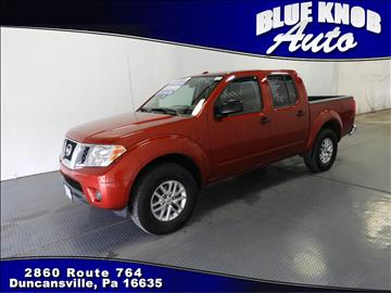 2016 Nissan Frontier for sale in Duncansville, PA