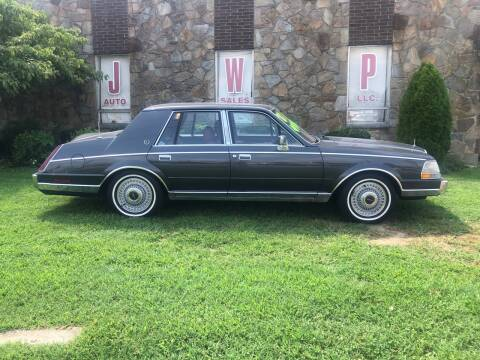1986 Lincoln Continental for sale at JWP Auto Sales,LLC in Maple Shade NJ