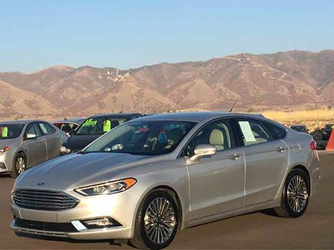 2017 Ford Fusion for sale at Salt Flats Auto Sales in Tooele UT