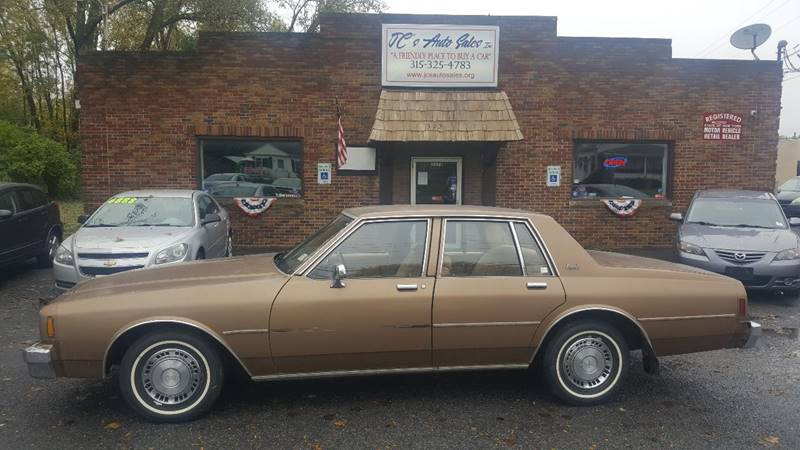 1981 Chevrolet Impala for sale at JC's Auto Sales in Waterloo NY