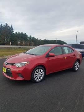 2015 Toyota Corolla for sale at Jeff's Sales & Service in Presque Isle ME