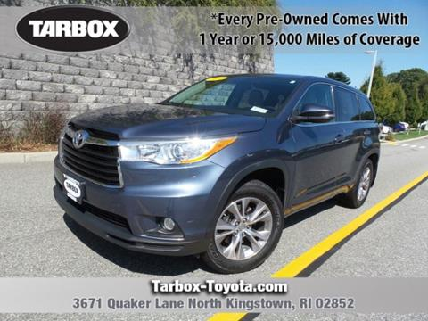 2014 Toyota Highlander for sale in North Kingstown, RI