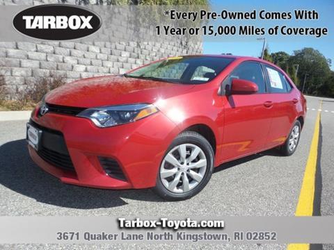 2014 Toyota Corolla for sale in North Kingstown, RI