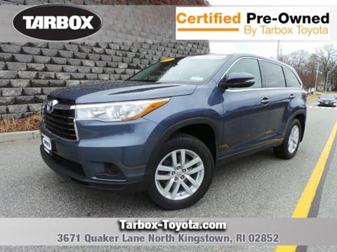 Used Suv For Sale In Ri >> Used Toyota Highlander For Sale In Rhode Island Carsforsale Com